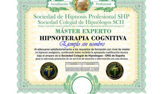 título máster experto en hipnosis cognitiva