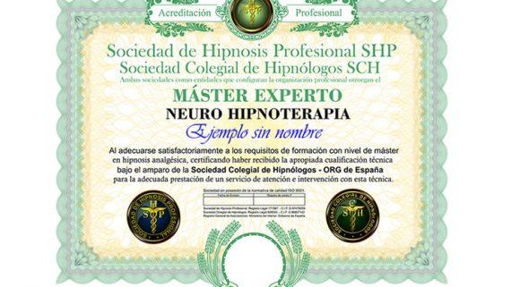 título máster experto en neurohipnoterapia